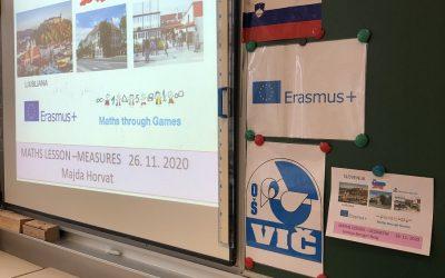 ERASMUS + PROJEKT MATEMATIKA SKOZI IGRO SE TA TEDEN ZAKLJUČUJE PREKO VIDEO KONFERENC